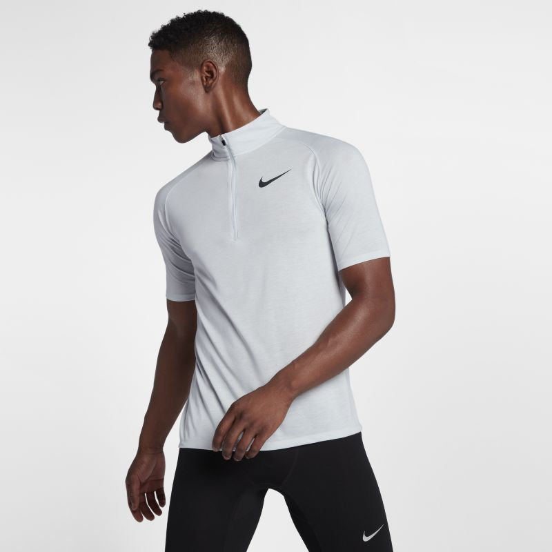 Nike Tailwind Men's Short-Sleeve Running Top - Silver