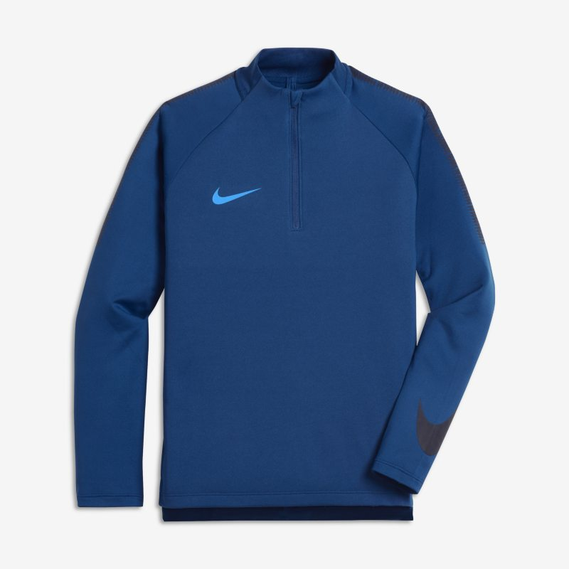 Nike Dri-FIT Squad Drill Older Kids'(Boys') Football Top - Blue