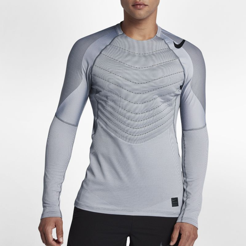 Nike Pro Aeroloft Men's Long-Sleeve Training Top - Grey