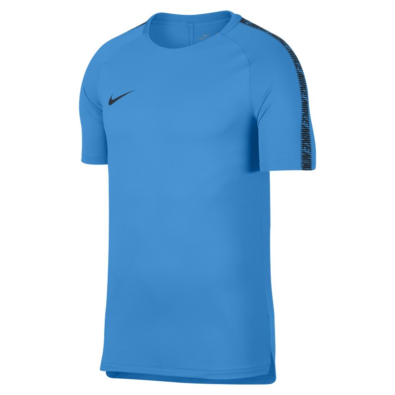 Nike Breathe Squad Men's Short-Sleeve Football Top - Blue
