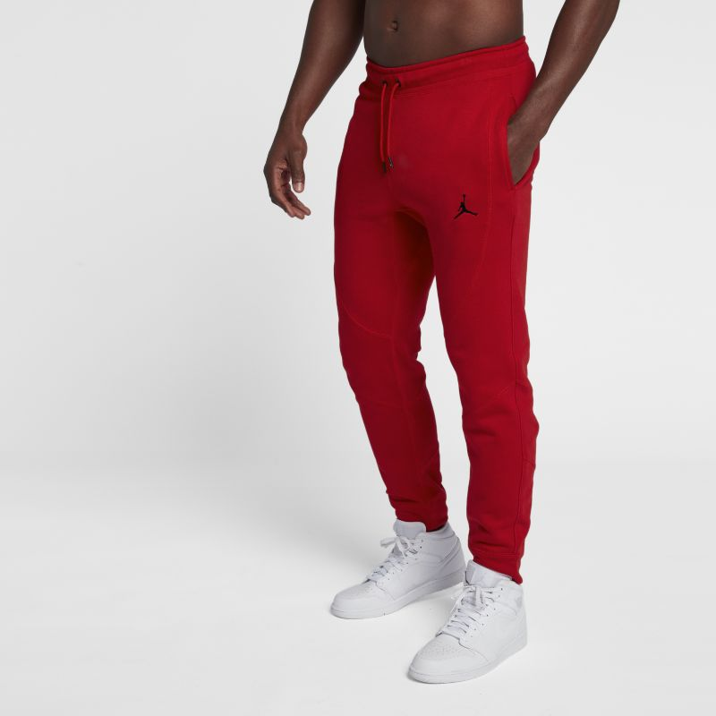 Jordan Lifestyle Wings Men's Fleece Trousers - Red