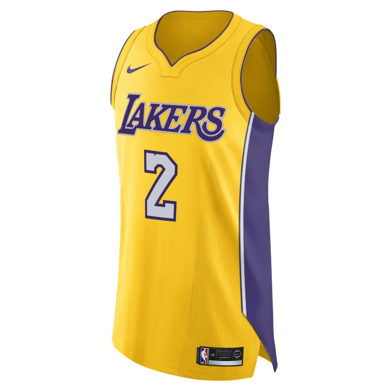 Lonzo Ball Icon Edition Authentic (Los Angeles Lakers) Men's Nike NBA Connected Jersey - Yellow
