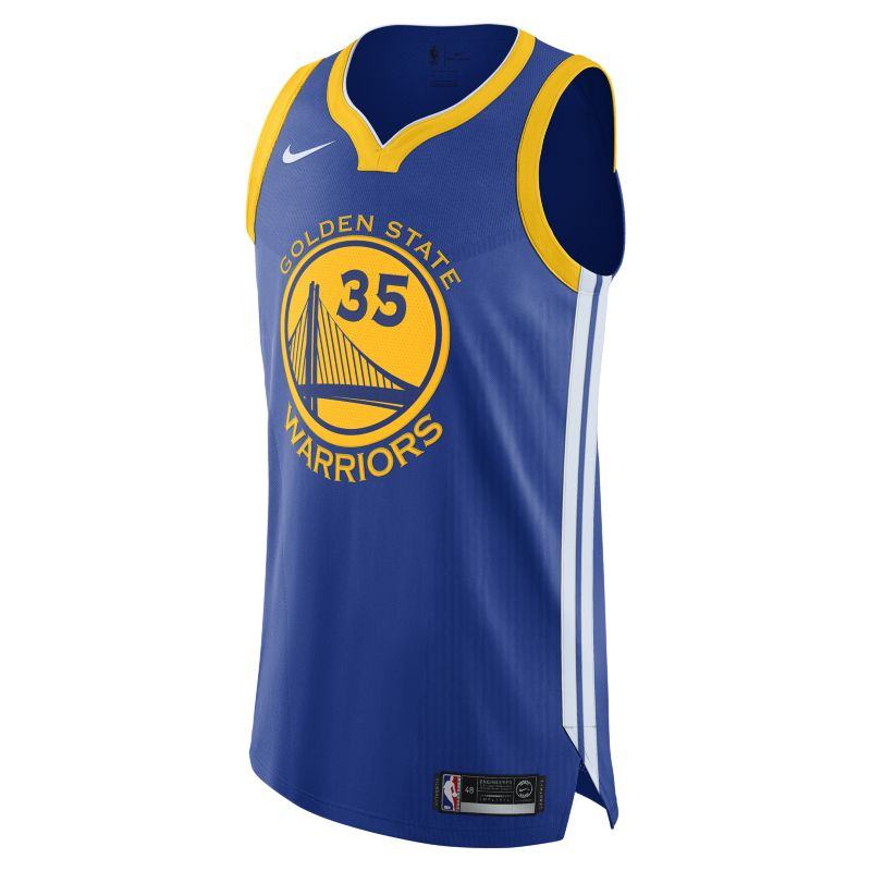 Kevin Durant Icon Edition Authentic (Golden State Warriors) Men's Nike NBA Connected Jersey - Blue