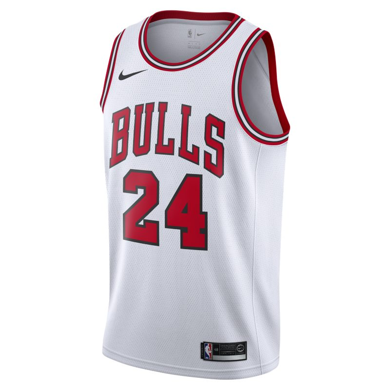 Image of Lauri Markkanen Icon Edition Swingman (Chicago Bulls) Men's Nike NBA Connected Jersey Red