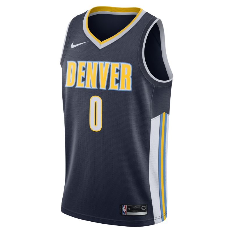 Image of Emmanuel Mudiay Icon Edition Swingman Jersey (Denver Nuggets) Men's Nike NBA Connected Jersey Blue