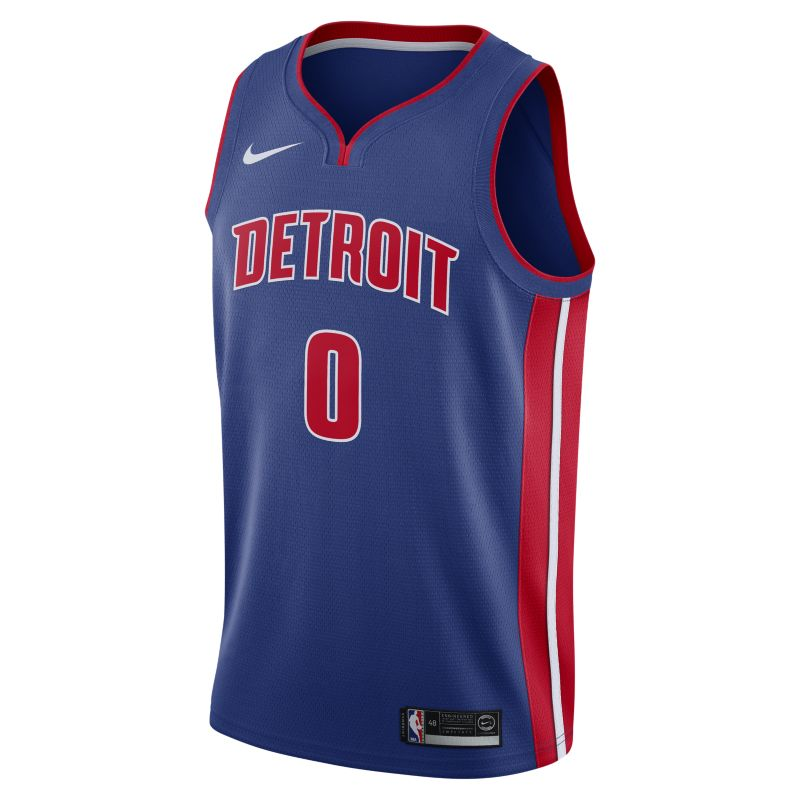 Andre Drummond Icon Edition Swingman (Detroit Pistons) Men's Nike NBA Connected Jersey - Blue