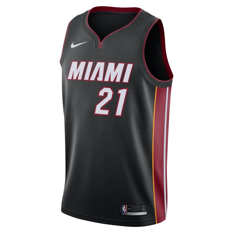 Hassan Whiteside Icon Edition Swingman Jersey (Miami Heat) Men's Nike NBA Connected Jersey - Black