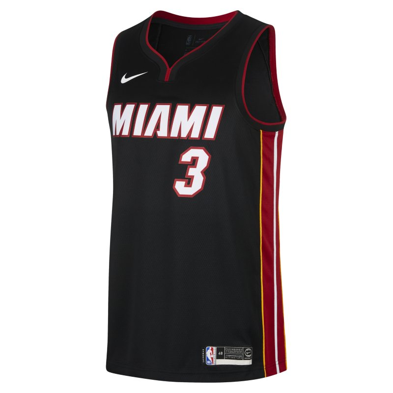 Dwyane Wade Icon Edition Swingman Jersey (Miami Heat) Men's Nike NBA Connected Jersey - Black