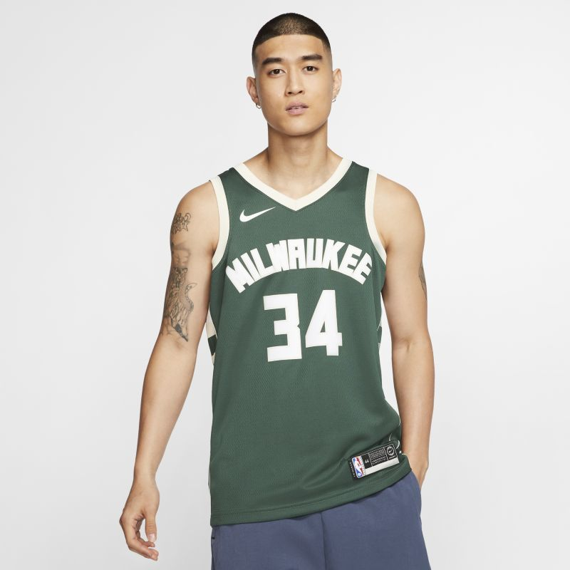 Giannis Antetokounmpo Icon Edition Swingman Jersey (Milwaukee Bucks) Men's Nike NBA Connected Jersey