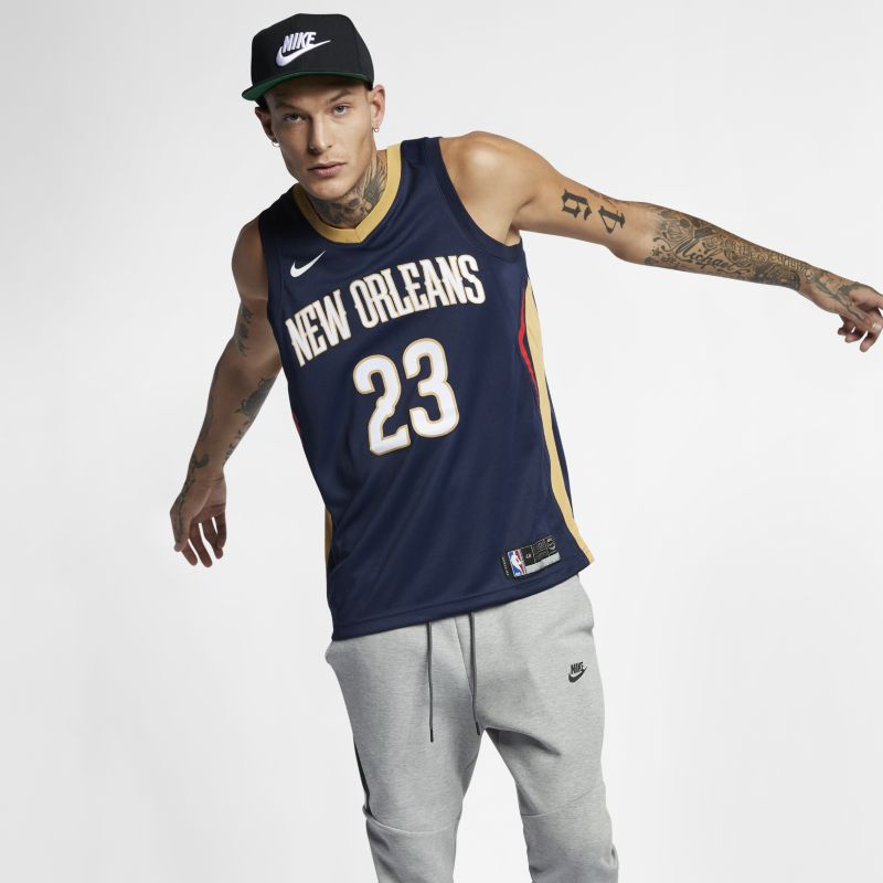 Image of Anthony Davis (NBA) Icon Edition Swingman (New Orleans Pelicans) Men's Nike NBA Connected Jersey Blue
