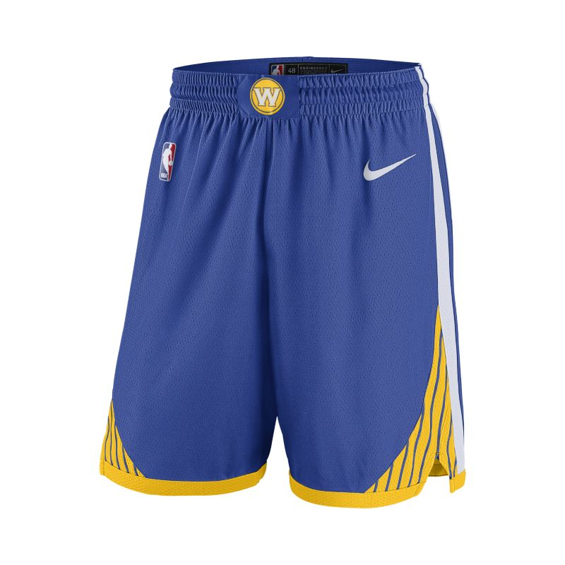 Golden State Warriors Nike Icon Edition Swingman Men's NBA Shorts - Blue