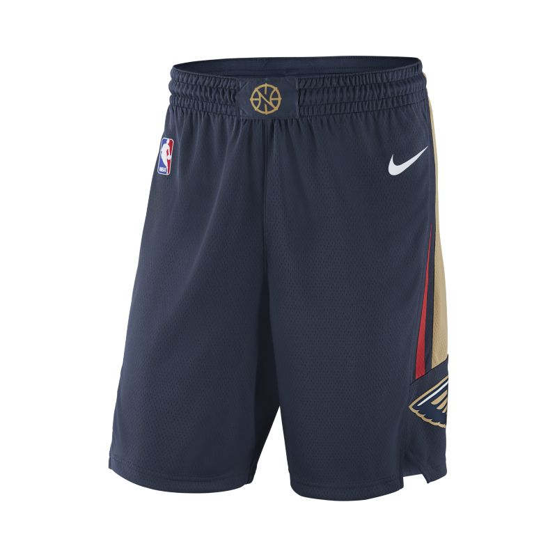 New Orleans Pelicans Nike Icon Edition Swingman Men's NBA Shorts - Blue