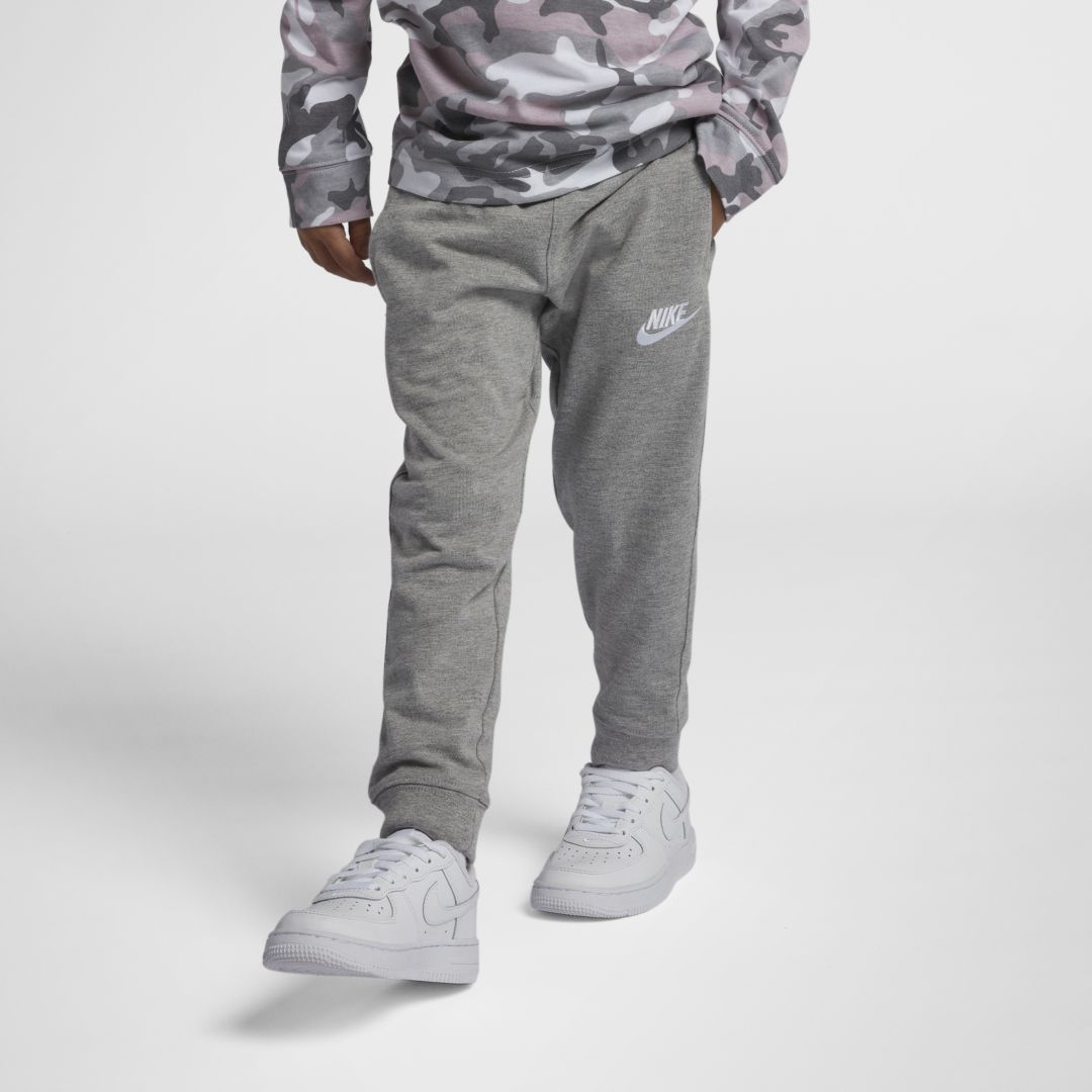 Nike Sportswear Kids' Jersey Joggers (little Boy) In Grey