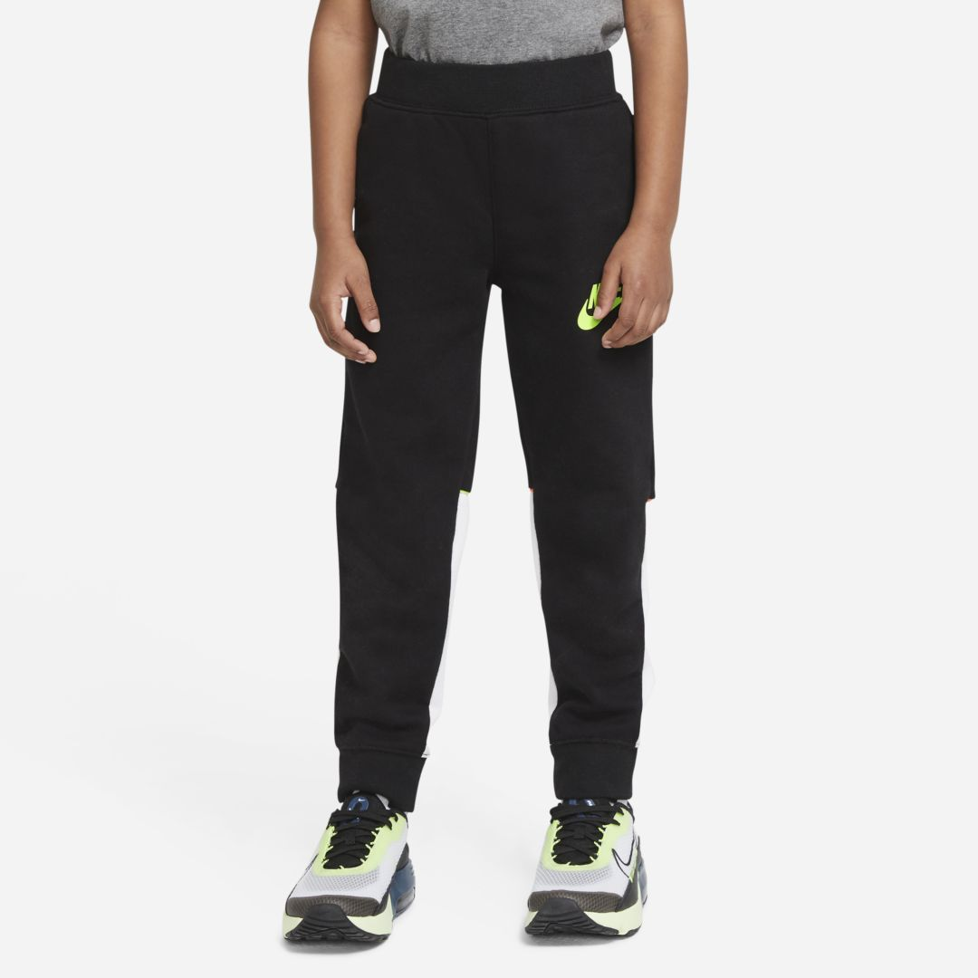 Nike LITTLE KIDS' COLOR-BLOCK JOGGERS (BLACK)