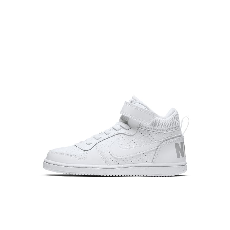 NikeCourt Borough Mid Younger Kids' Shoe - White