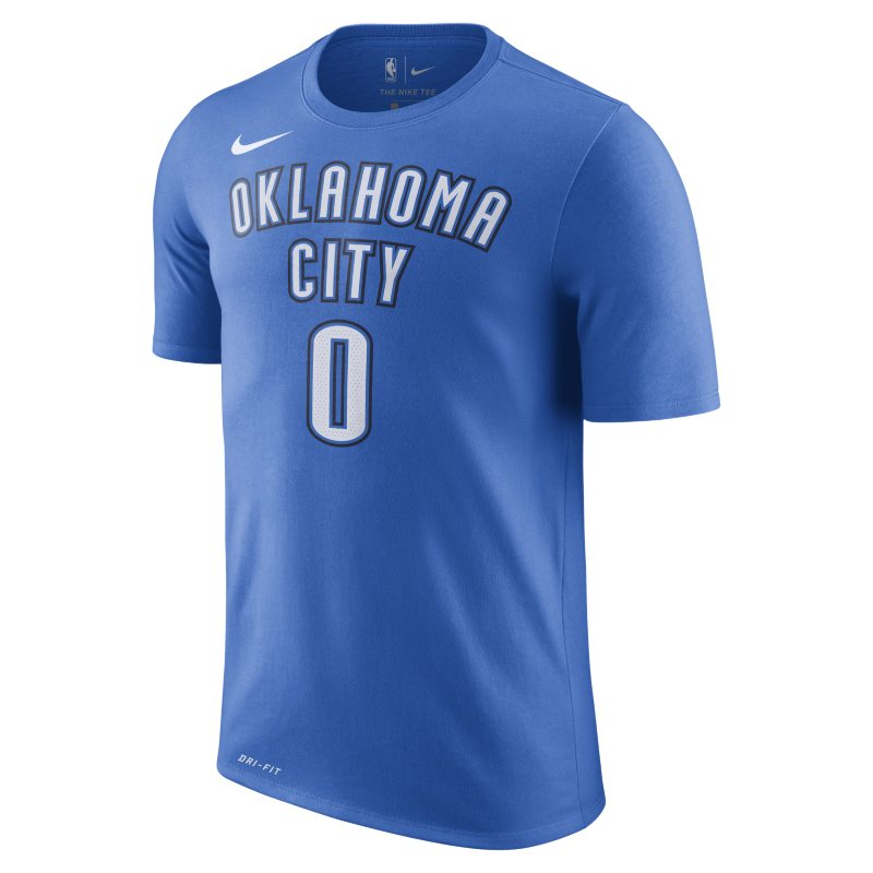 Russell Westbrook Oklahoma City Thunder Nike Dry Men's NBA T-Shirt - Blue