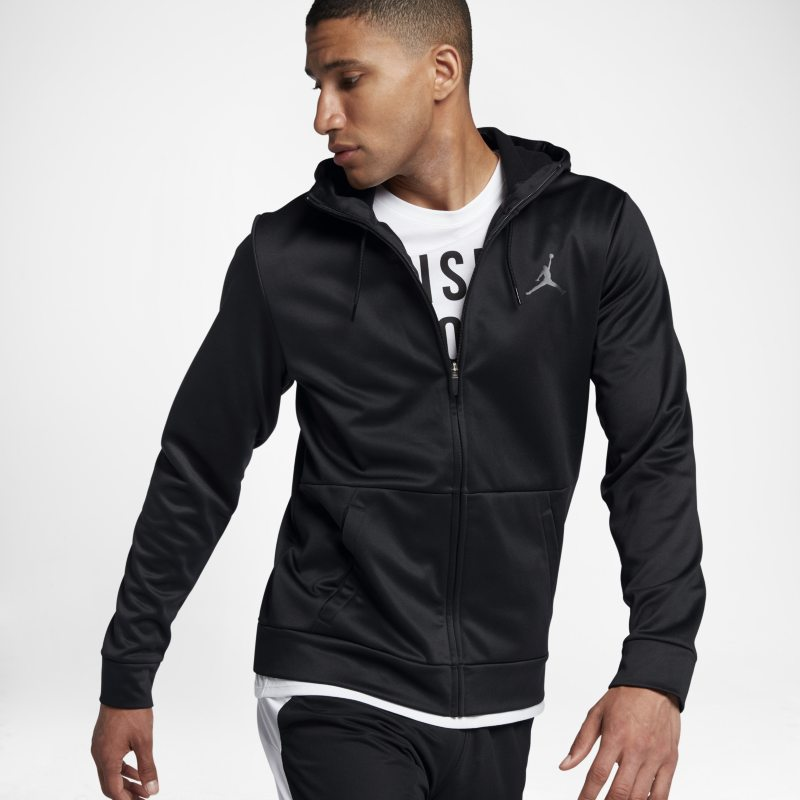 Jordan Therma 23 Alpha Men's Full-Zip Hoodie - Black