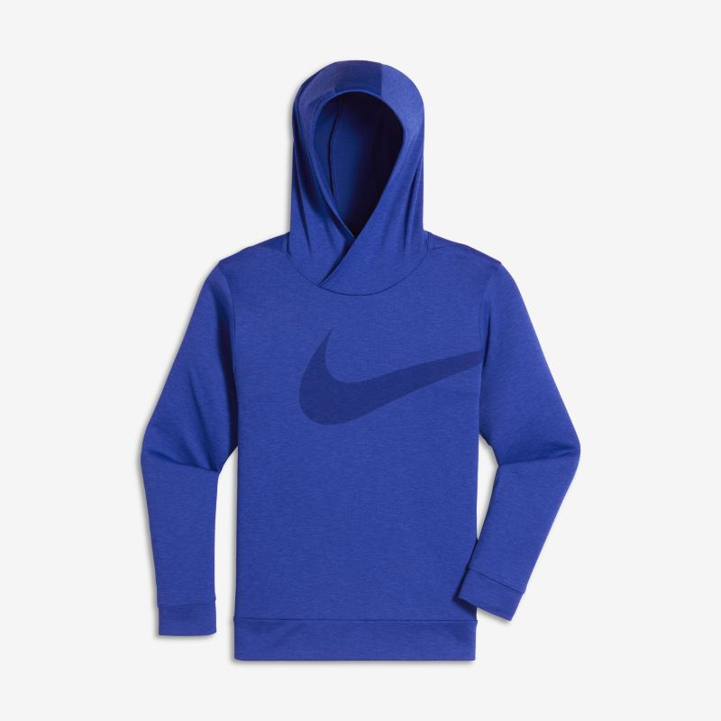 Nike Breathe Older Kids'(Boys') Training Hoodie - Blue