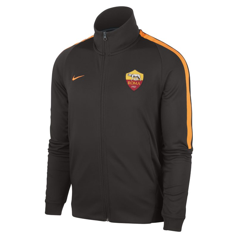 A.S. Roma Authentic N98 Men`s Track Jacket - Brown