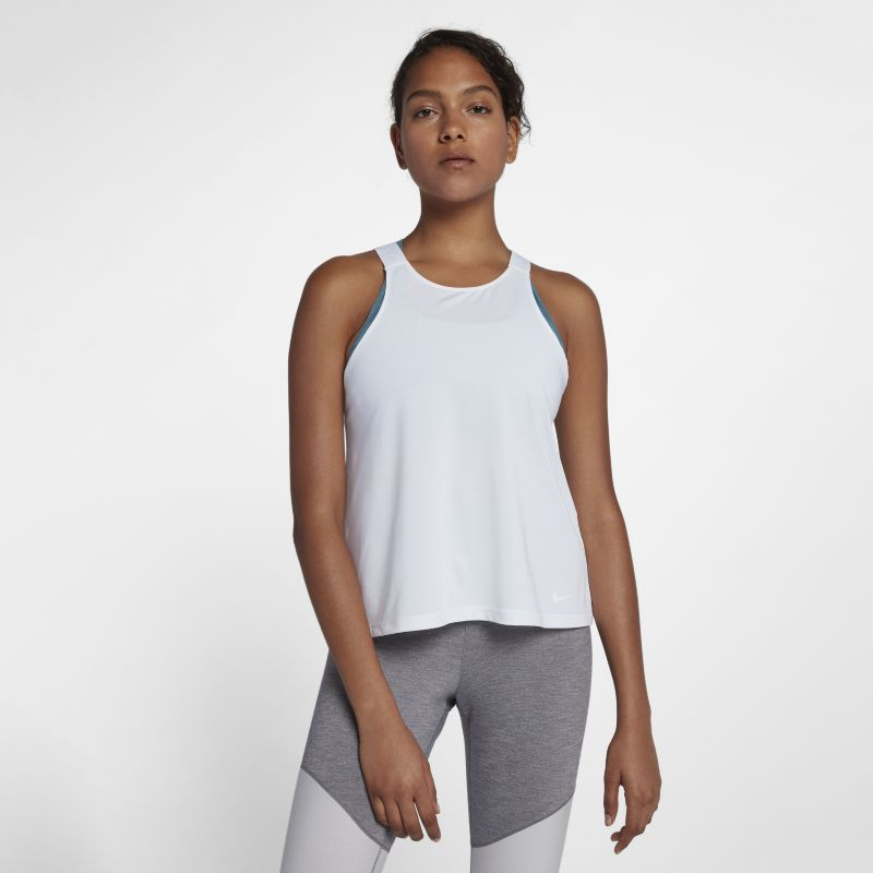 Nike Dri-FIT Elevated Elastika Women's Training Tank - White
