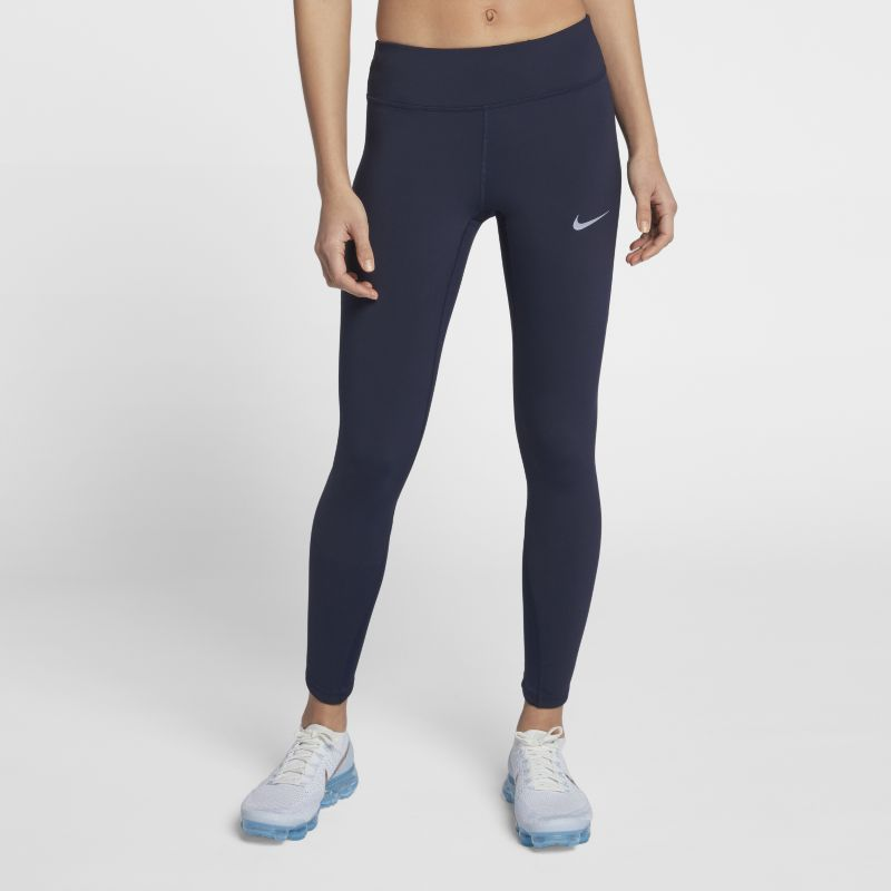 """Nike Epic Lux Women's 25.5""""(65cm approx.) Running Tights - Blue"""