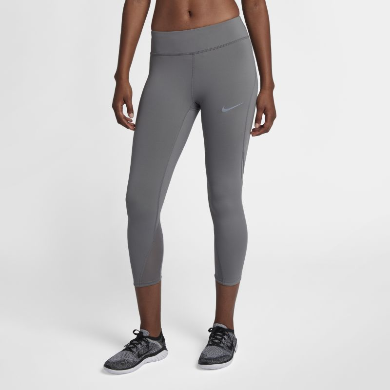 "Nike Epic Lux Women's 21.5""(54.5cm approx.) Running Crops - Grey"