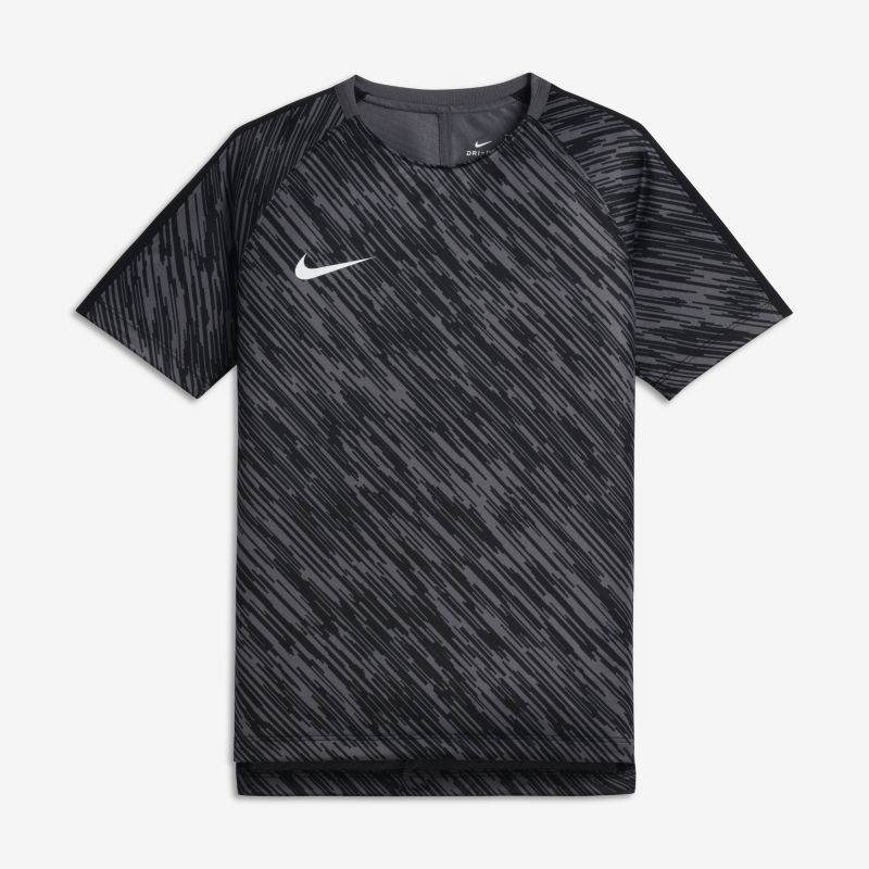 Nike Dri-FIT Squad Older Kids'(Boys') Short-Sleeve Football Top - Grey