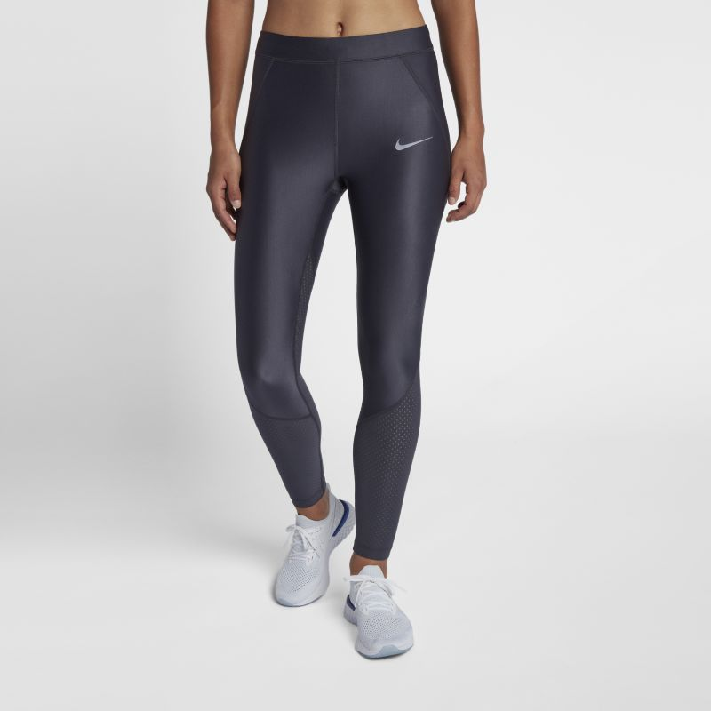 Nike Speed Women's Mid-Rise 64cm Running Tights - Grey