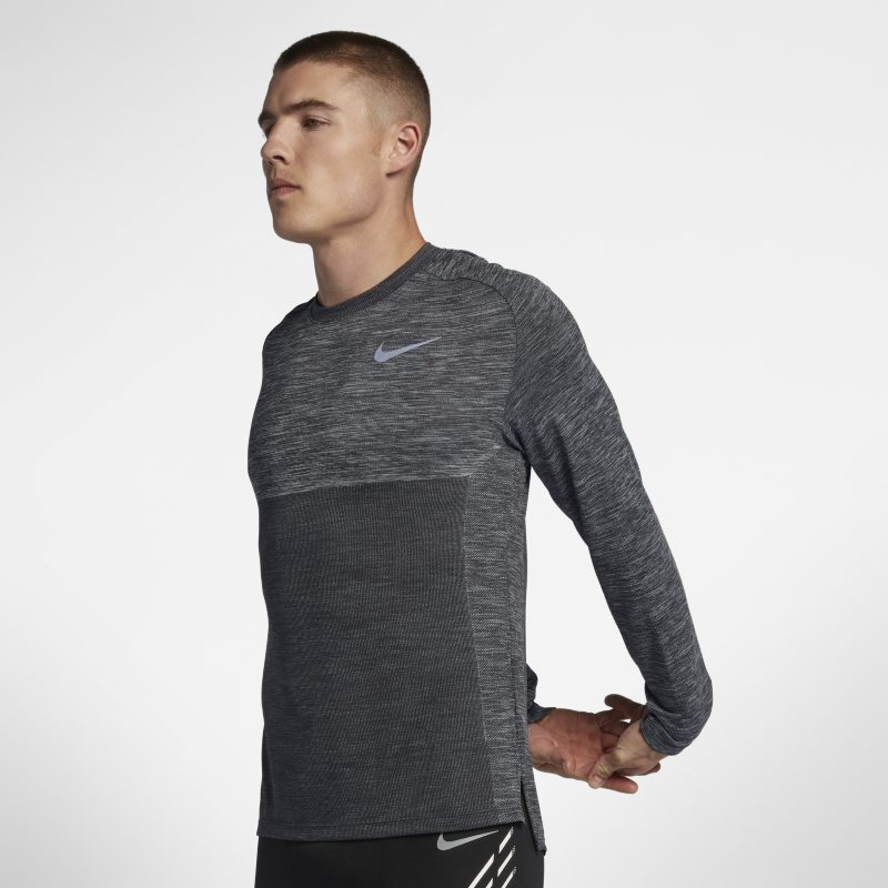 Nike Dri-FIT Medalist Men's Long-Sleeve Running Top - Grey