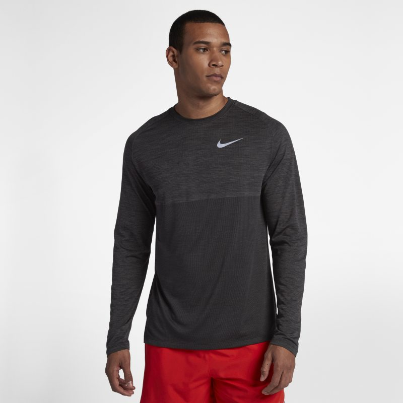 Nike Dri-FIT Medalist Men's Long-Sleeve Running Top - Black