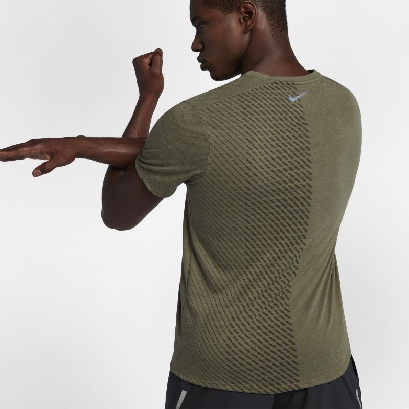 Nike Tailwind Men's Short-Sleeve Running Top - Olive