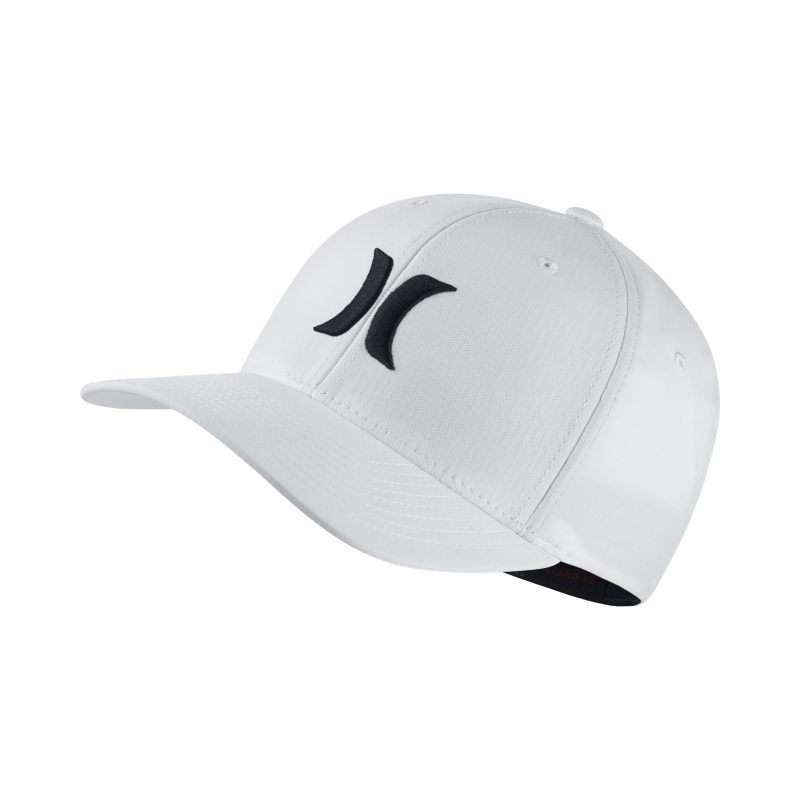 Hurley One And Only Dri-FIT Unisex Fitted Hat - White