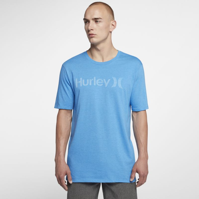 Hurley One And Only Push Through Men's T-Shirt - Blue