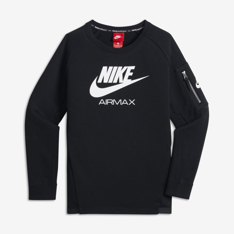 Nike Air Max Older Kids'(Boys') Crew - Black