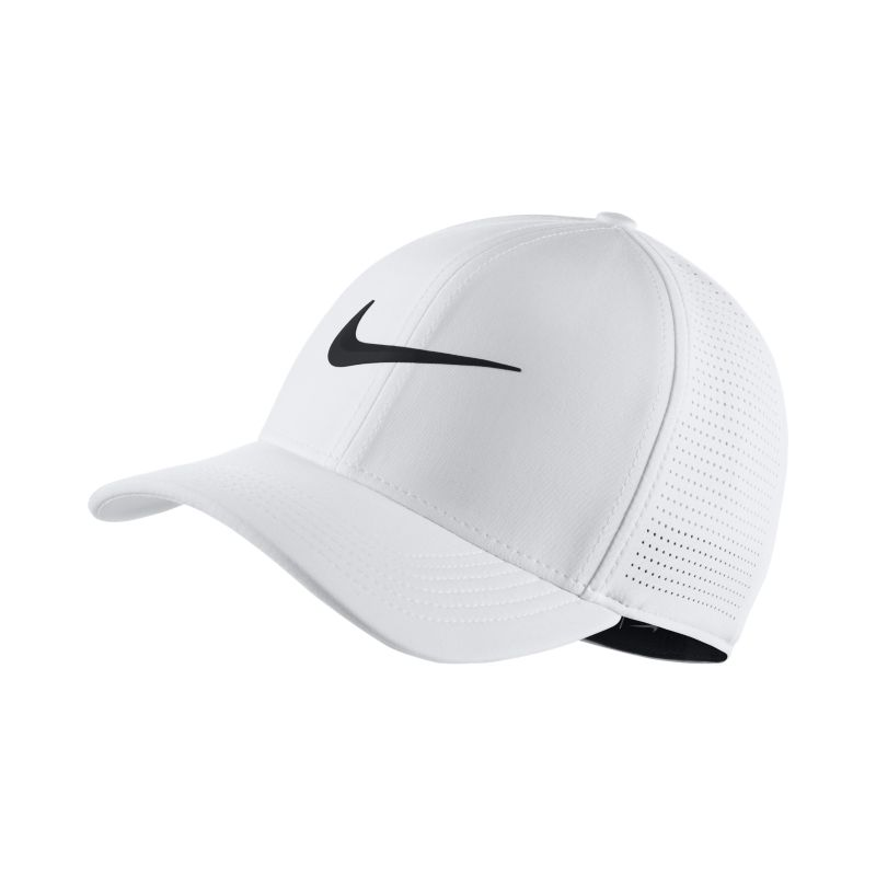 Nike AeroBill Classic 99 Fitted Golf Hat - White