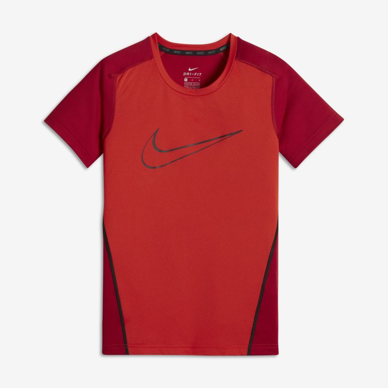 Nike Dri-FIT Older Kids'(Boys') Short-Sleeve Training Top - Red