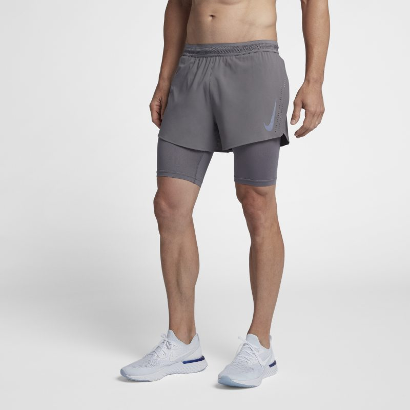 Nike AeroSwift 2-in-1 Men's Running Shorts - Grey