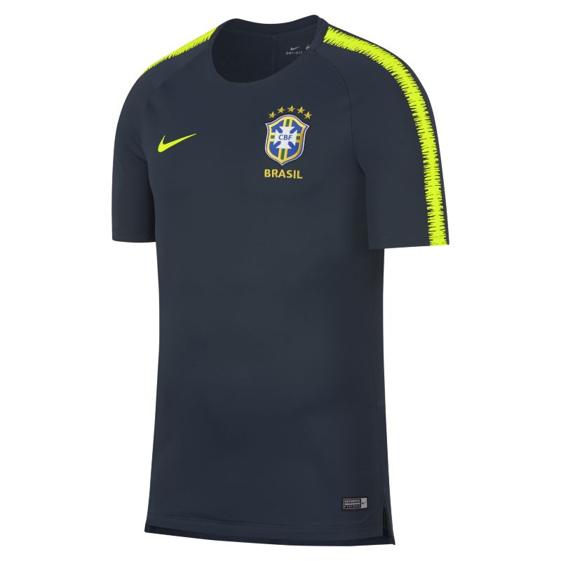Brazil CBF Breathe Squad Men's Football Top - Blue