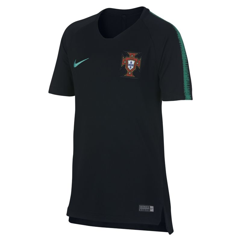 Portugal Breathe Squad Older Kids'Football Top - Black
