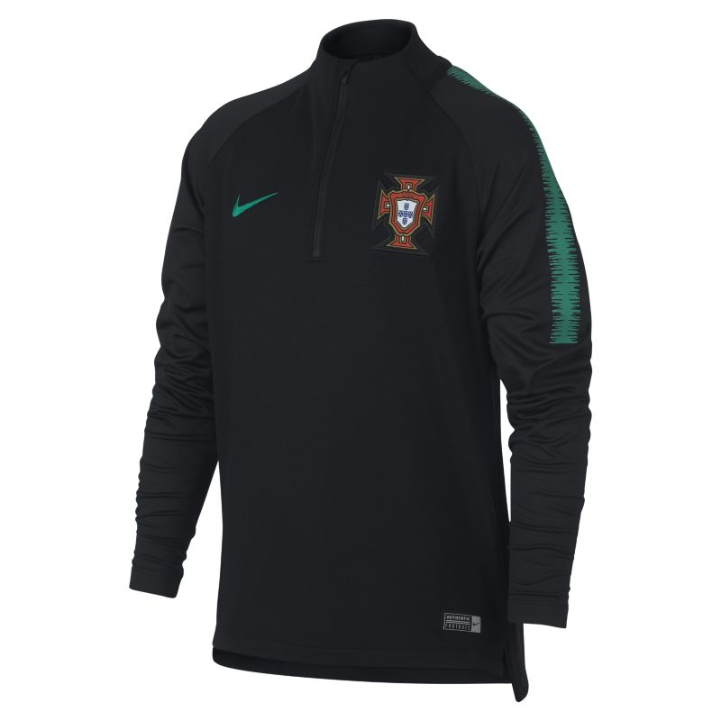 Portugal Dri-FIT Squad Drill Older Kids'Long-Sleeve Football Top - Black