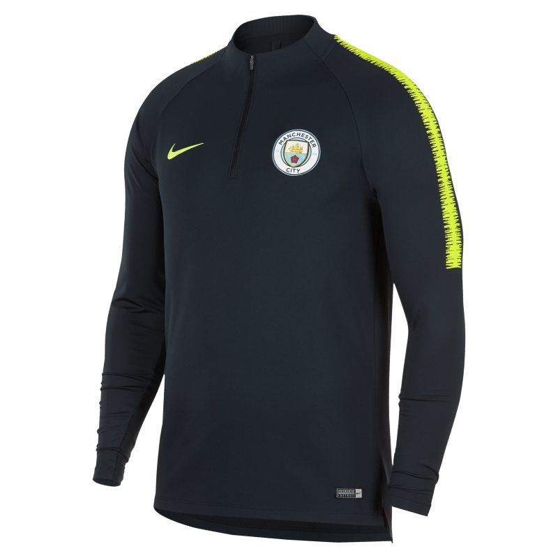 Manchester City FC Dri-FIT Squad Drill Men's Long-Sleeve Football Top - Blue