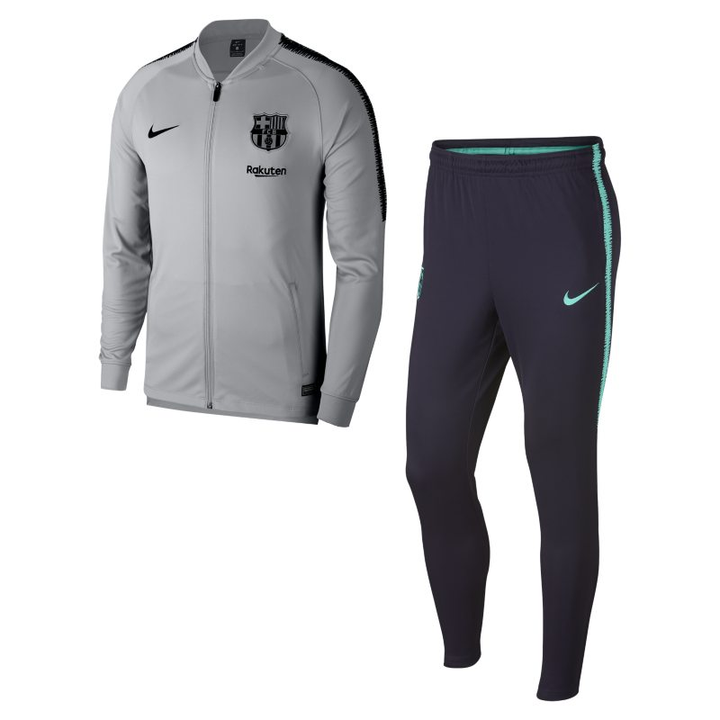 FC Barcelona Dri-FIT Squad Men's Football Track Suit - Grey