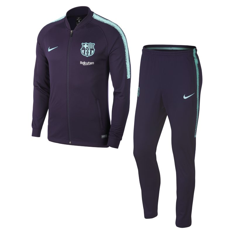 FC Barcelona Dri-FIT Squad Men's Football Track Suit - Purple