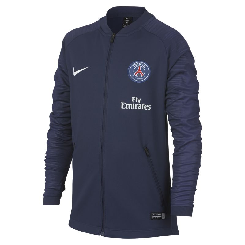 Paris Saint-Germain Anthem Older Kids' Football Jacket - Blue