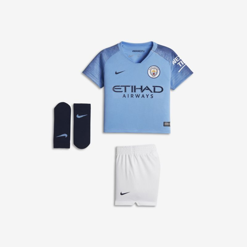 2018/19 Manchester City FC Stadium Home Baby&Toddler Football Kit - Blue