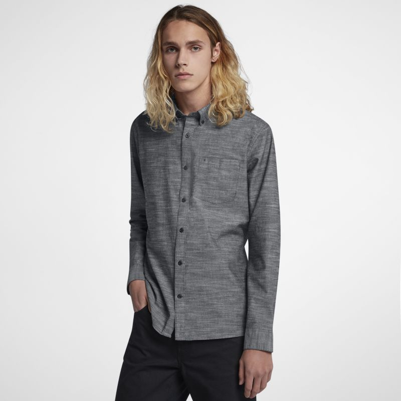 Hurley One And Only Men's Long-Sleeve Top - Grey