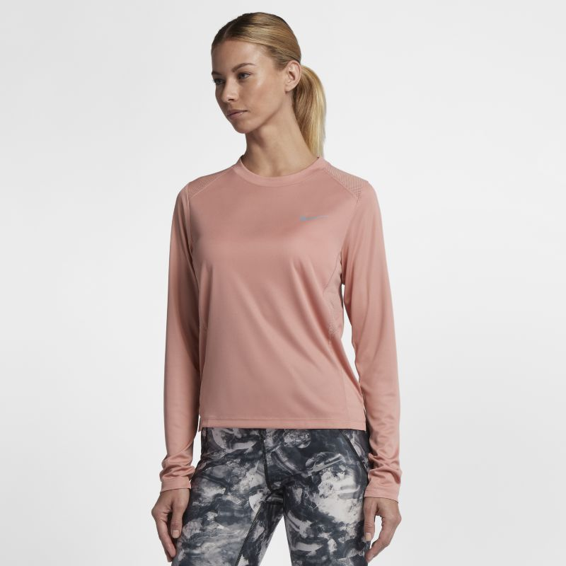 Nike Miler Women's Long-Sleeve Top - Pink