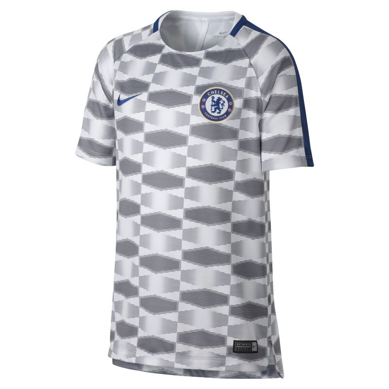 Chelsea FC Dri-FIT Squad Older Kids'Football Top - White