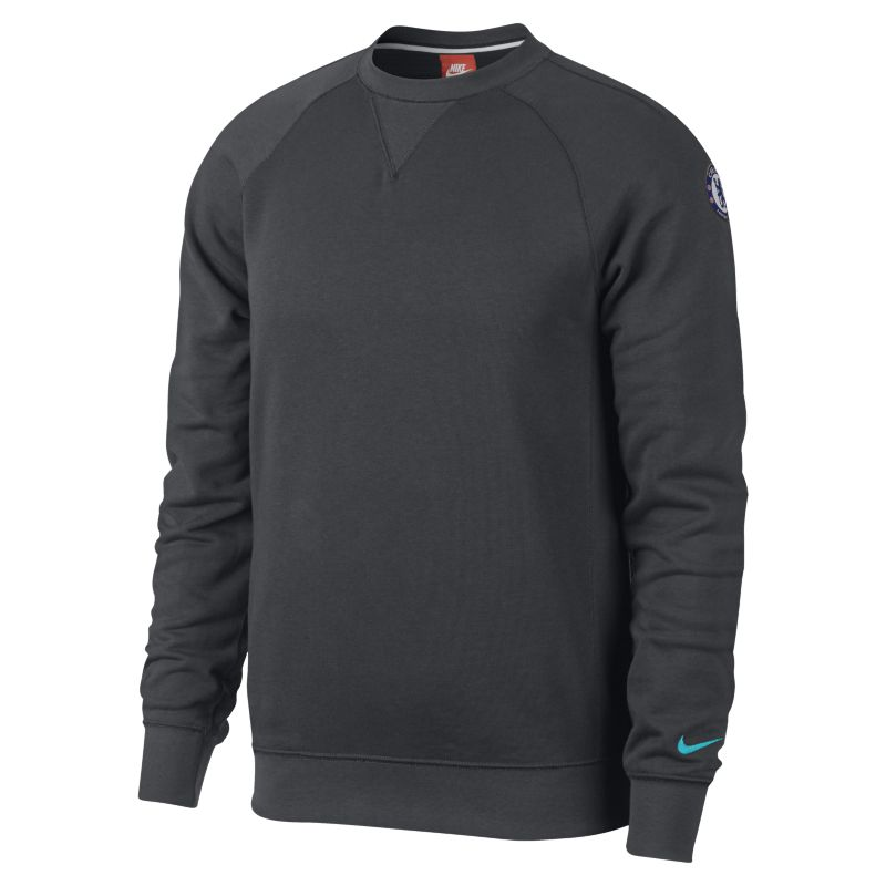 Chelsea FC French Terry Authentic Men's Sweatshirt - Black