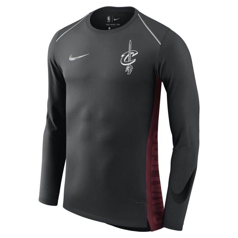 Cleveland Cavaliers Nike Hyper Elite Men's Long-Sleeve NBA Top - Grey